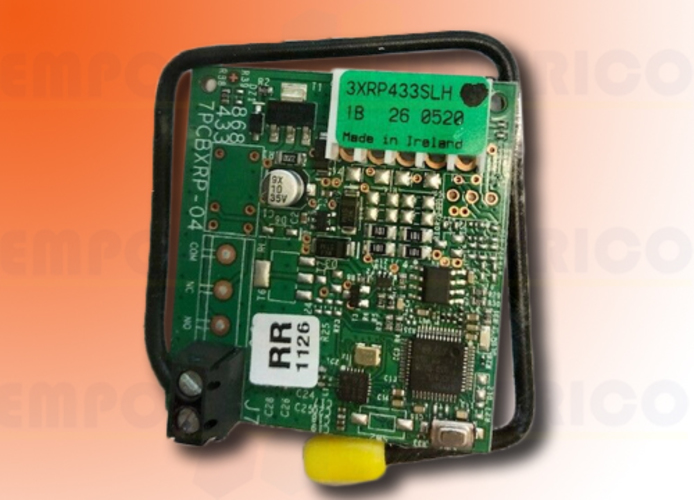 faac ricevente ad innesto 1 canale 433 mhz rp 433 slh 787824 (new code 787852)