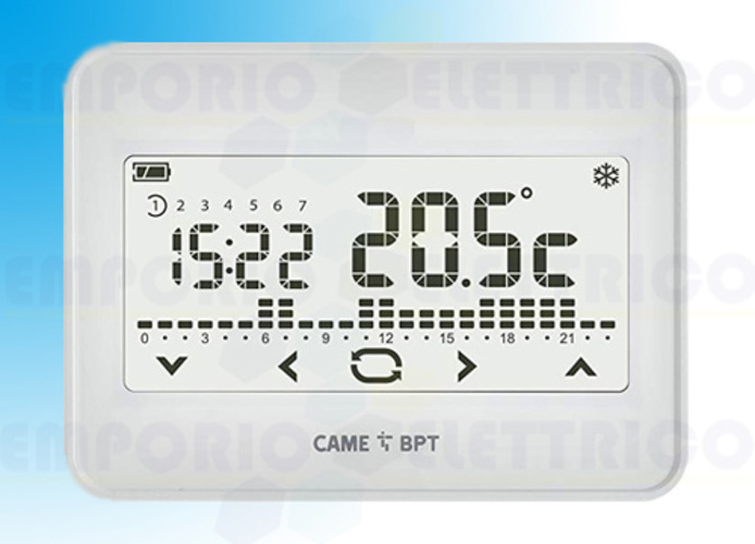 came bpt cronotermostato touch screen wifi da parete th/550 wh 845aa-0060