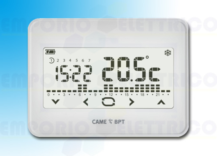 came cronotermostato touch screen da parete th/550 wh 845aa-0010