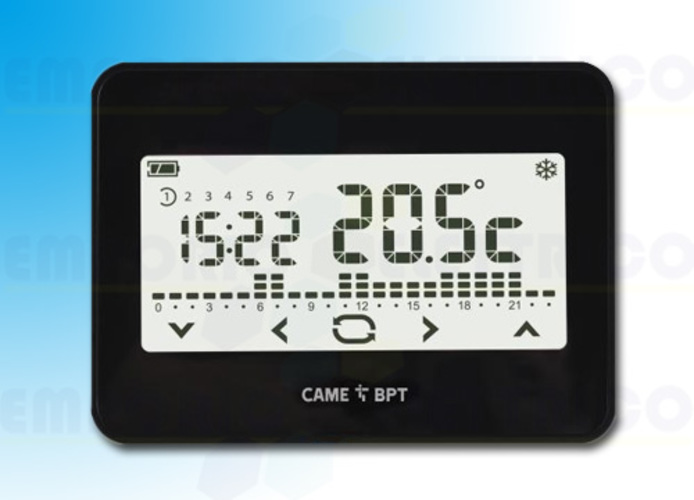 came cronotermostato touch screen da parete th/550 bk 230 845aa-0040
