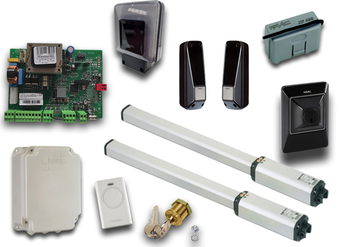 faac kit automazione 230v ac leader kit green 105633445